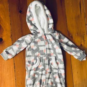 Carter's One-Piece Infant Fleece Snowsuit 6-12 mo.